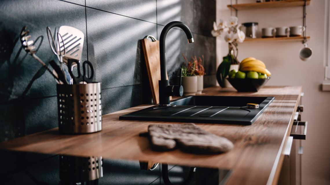 Bateria i zlew kuchenny