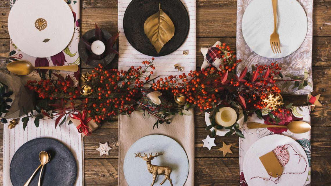 Świąteczne dekoracje na stół