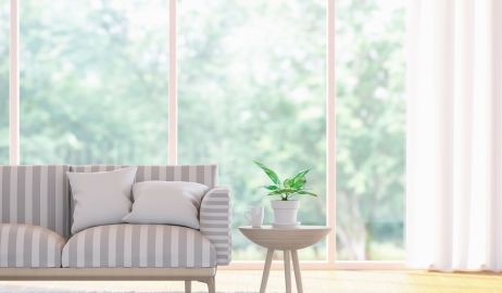 Aranżacje okien w salonie