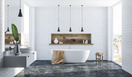 Cegła w łazience – pomysły na aranżację ściany