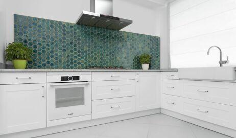 Mozaika na ścianie w łazience i kuchni