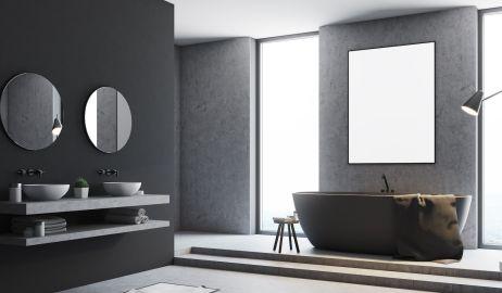 Szara łazienka – meble, dodatki i aranżacje