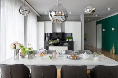 Kuchnia w stylu modern glam