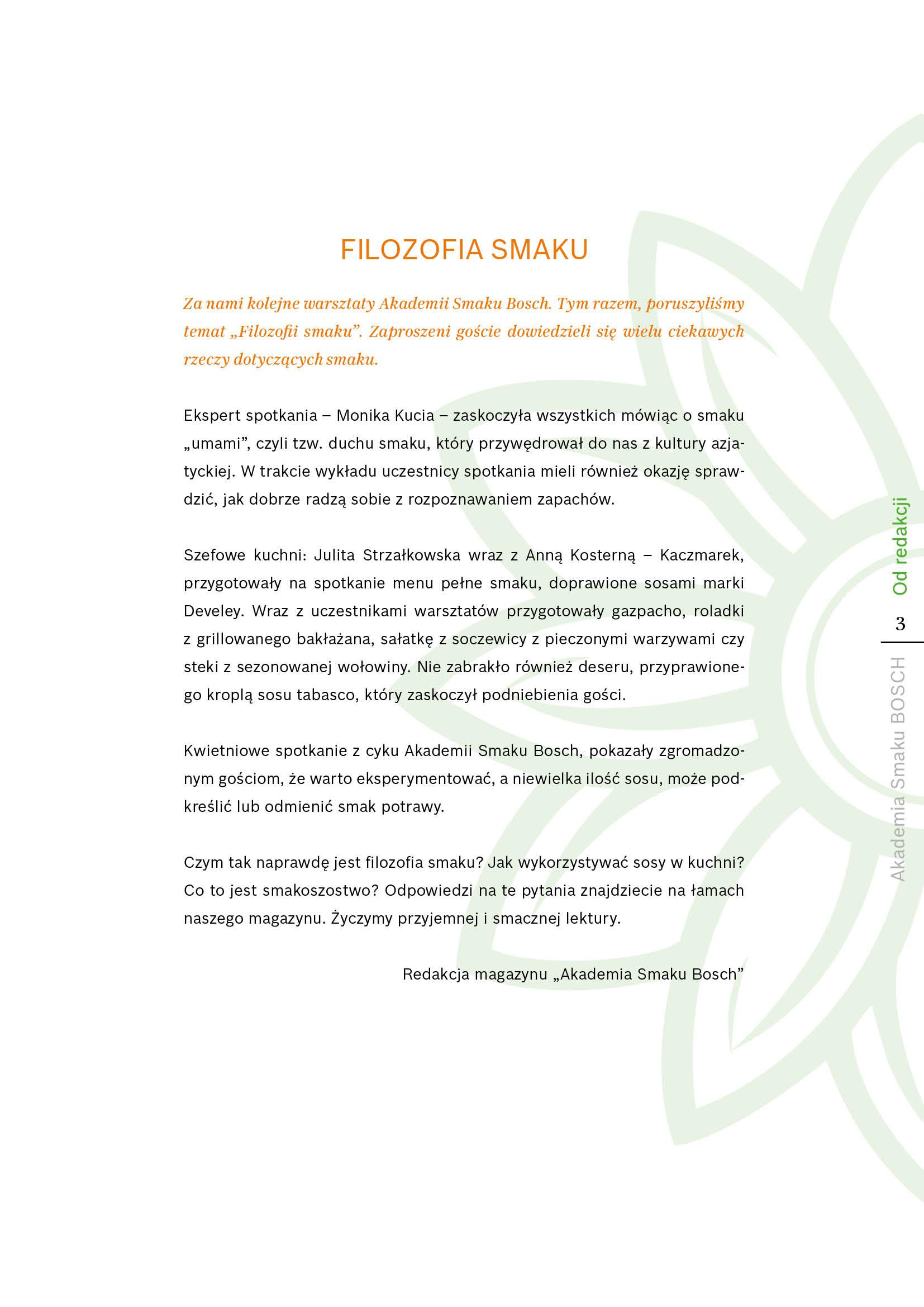 Filozofia smaku - Strona 3