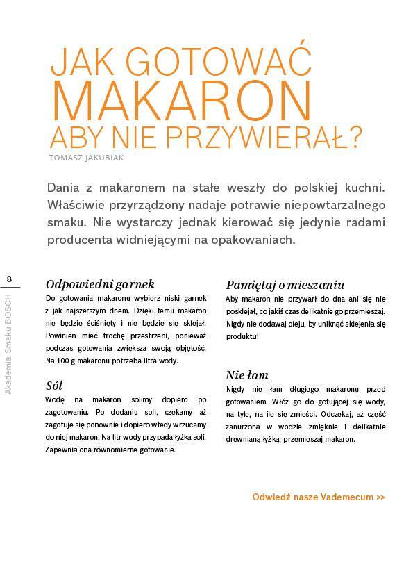 W gorącej wodzie kąpany - makaron - Strona 8