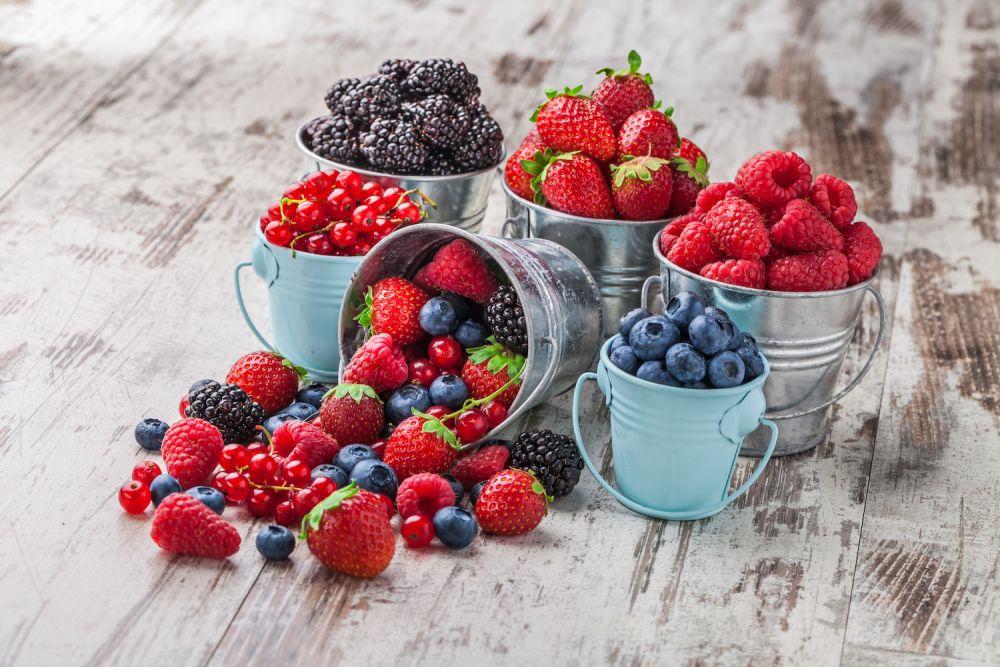 jagody, maliny, borówki, jeżyny