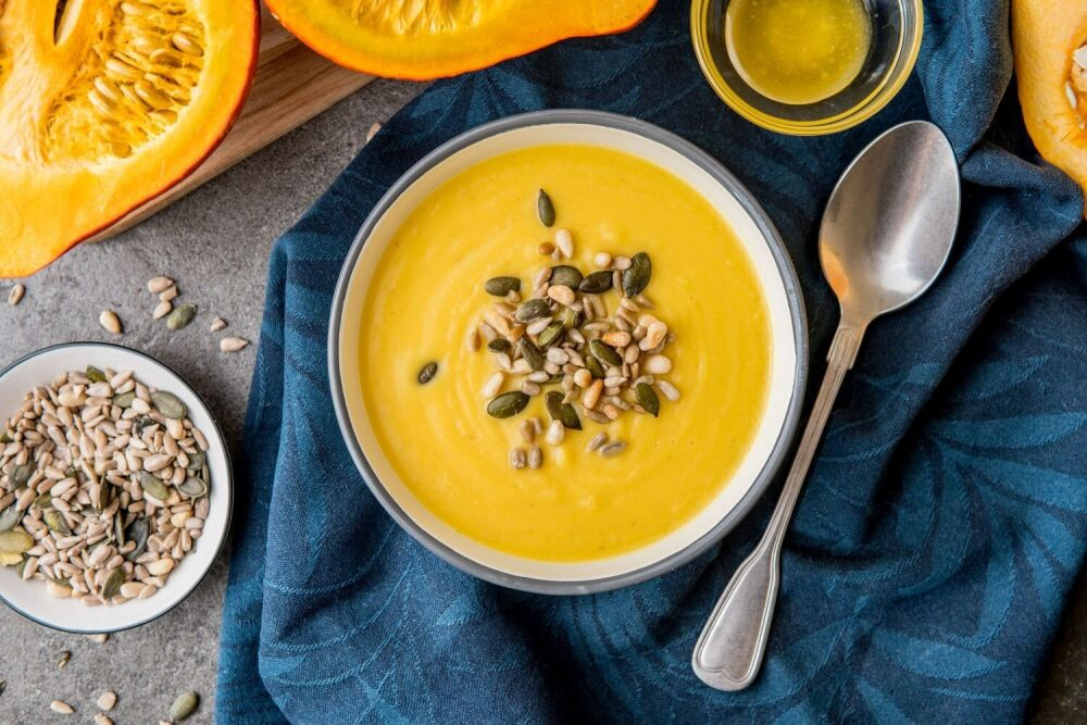 zupa krem z dyni, Mateusz Gessler, krem z dyni z pomarańczą