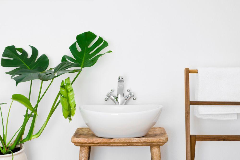 dodatki do łazienki, kwiat