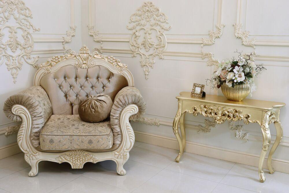 styl francuski, fotel ludwik