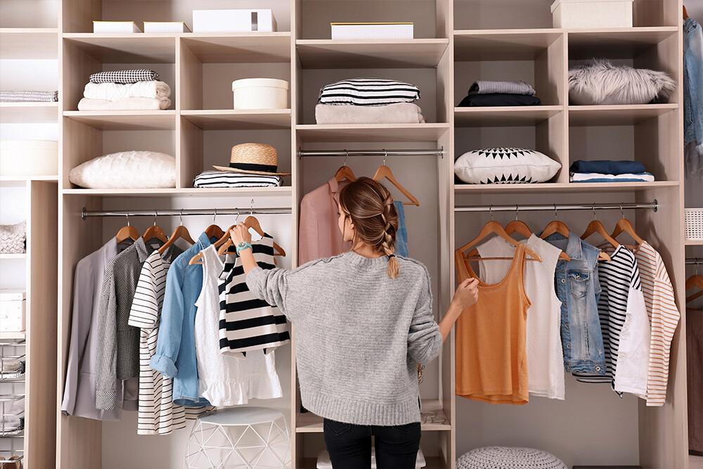 duża garderoba