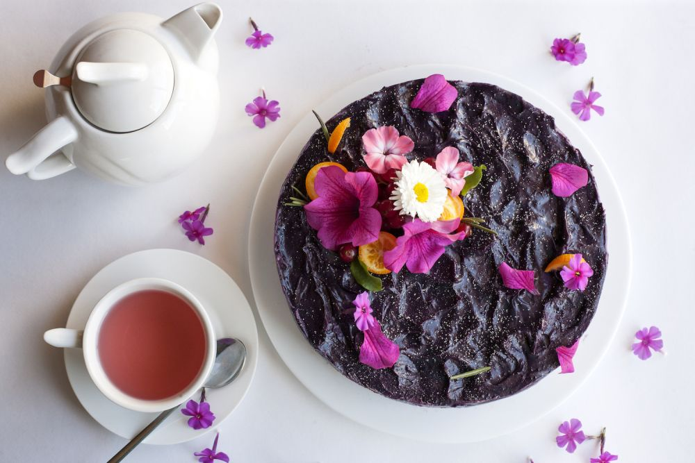 jadalne kwiaty na tort