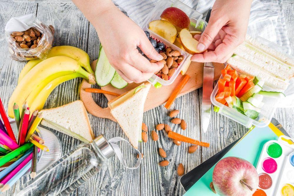 Zdrowe jedzenie - widok z góry