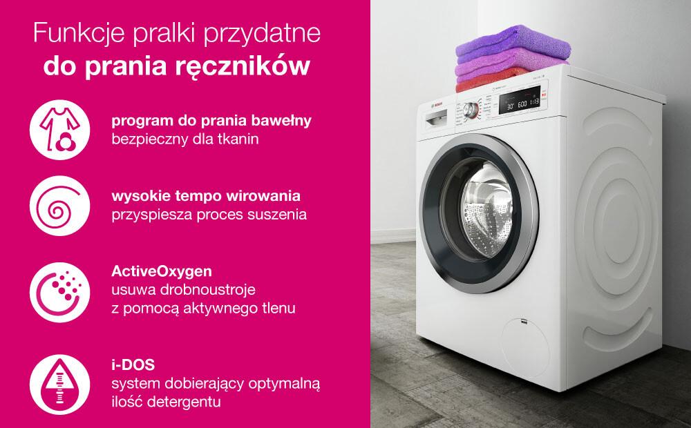 Funkcje pralki do prania ręczników