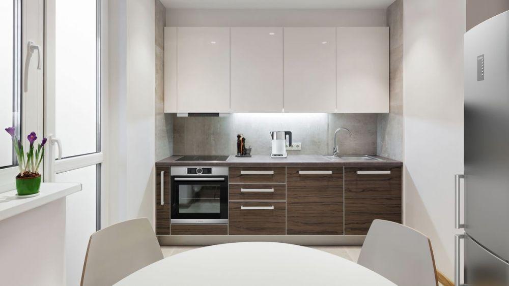 mała kuchnia, jasna kuchnia, piekarnik, okno, kuchnia w bloku