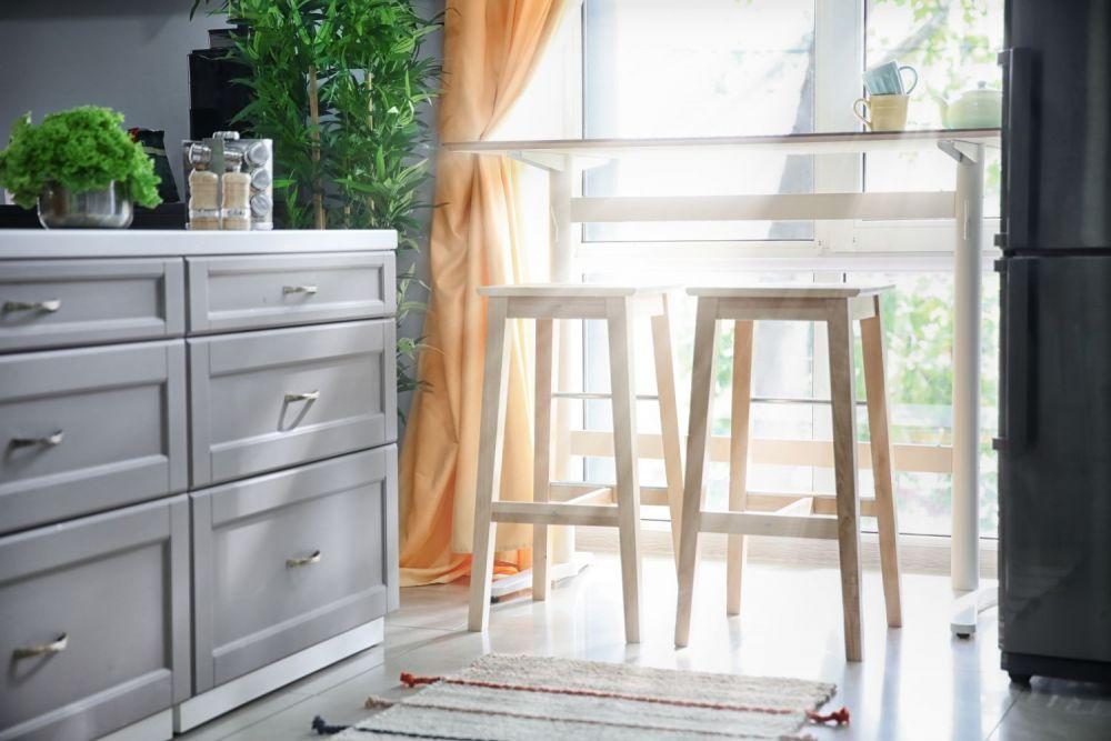 okno, słońce, okno w kuchni, rośliny,