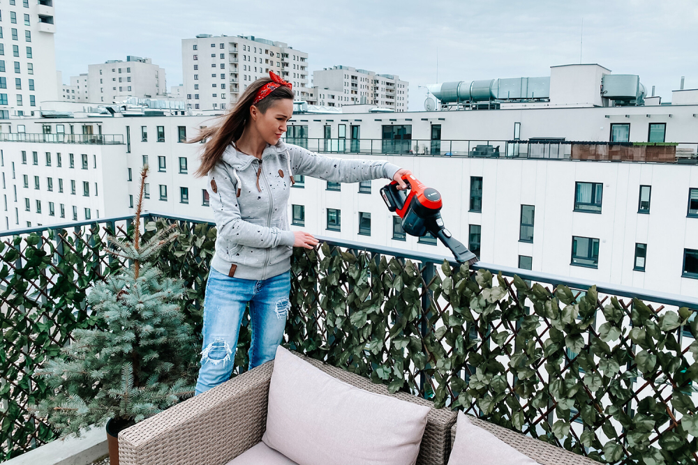 odkurzanie balkonu, architekt porządku