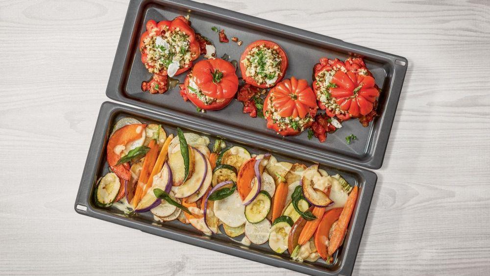 blacha do pieczenia, pieczona papryka, pieczone warzywa