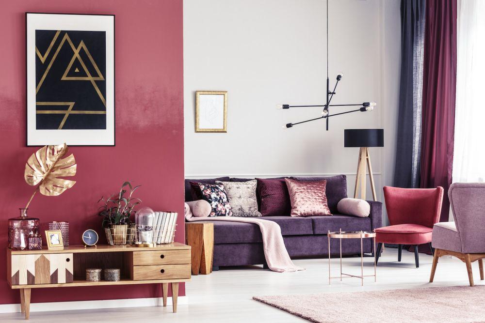 nowoczesna lampa w salonie