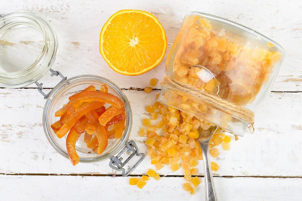 kandyzowane skórki pomarańczy