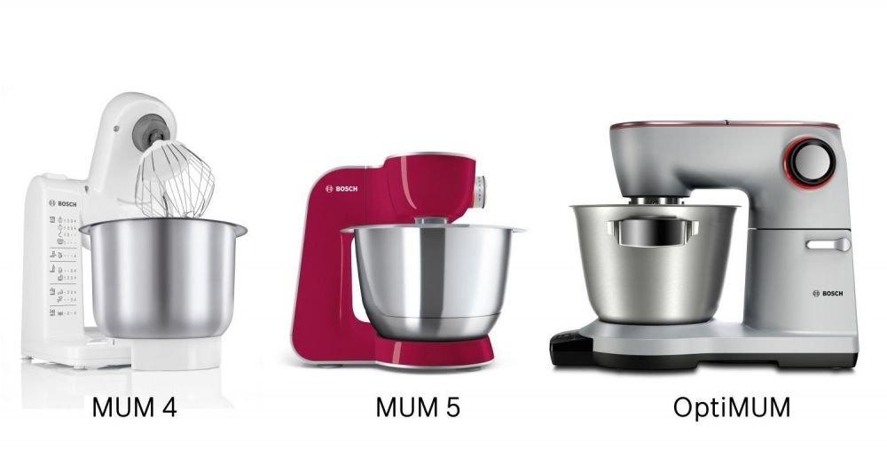 3 roboty kuchenne: MUM 5, OptiMUM i MUM4