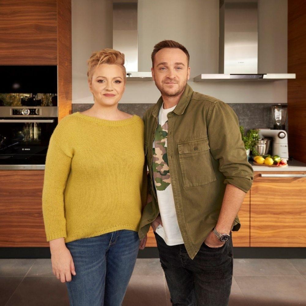 Dorota Szelągowska i Mateusz Gessler w kuchni