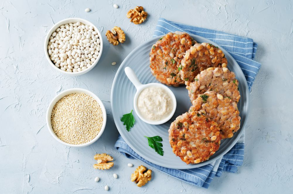 kotlety z  fasolki i quinoa, wege kotlety