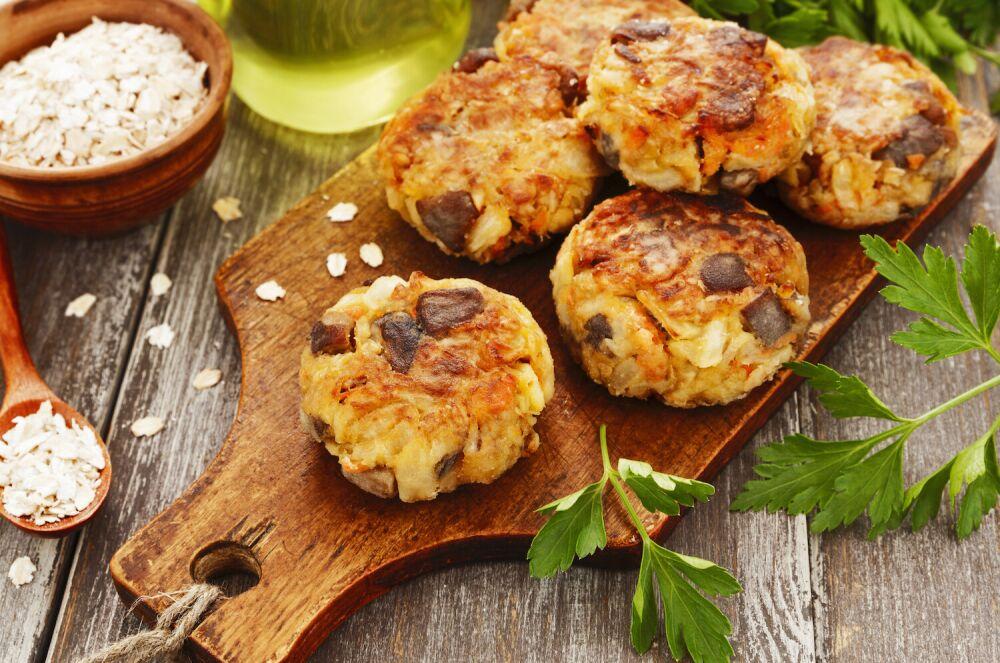 kotlety z suszonych grzybów, wegetariańskie kotlety