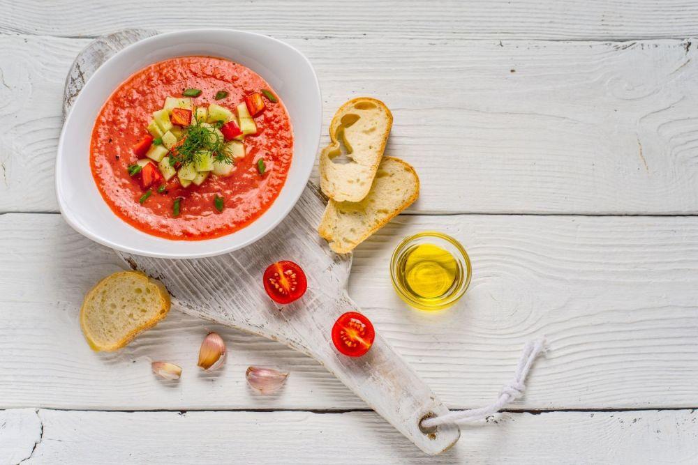 gazpacho, zupa,zupa warzywna, pomidorowa