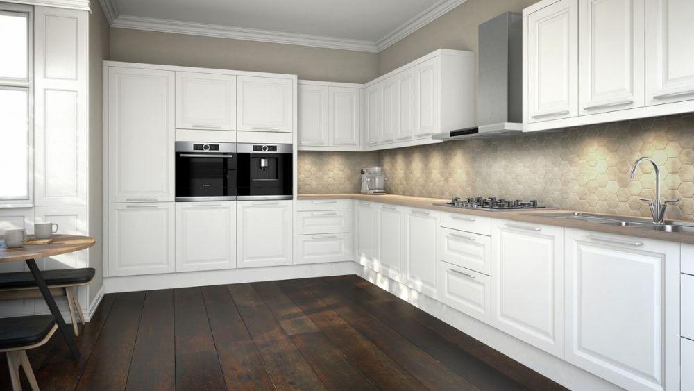 białe meble, jasne przestrzenie, styl skandynawski w kuchni
