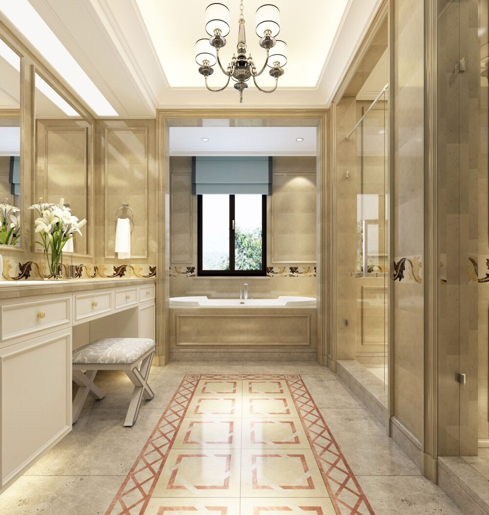 luksusowa łazienka, łazienka w stylu angielskim