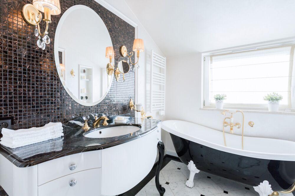 łazienka w stylu francuskiem, luksusowa łazienka