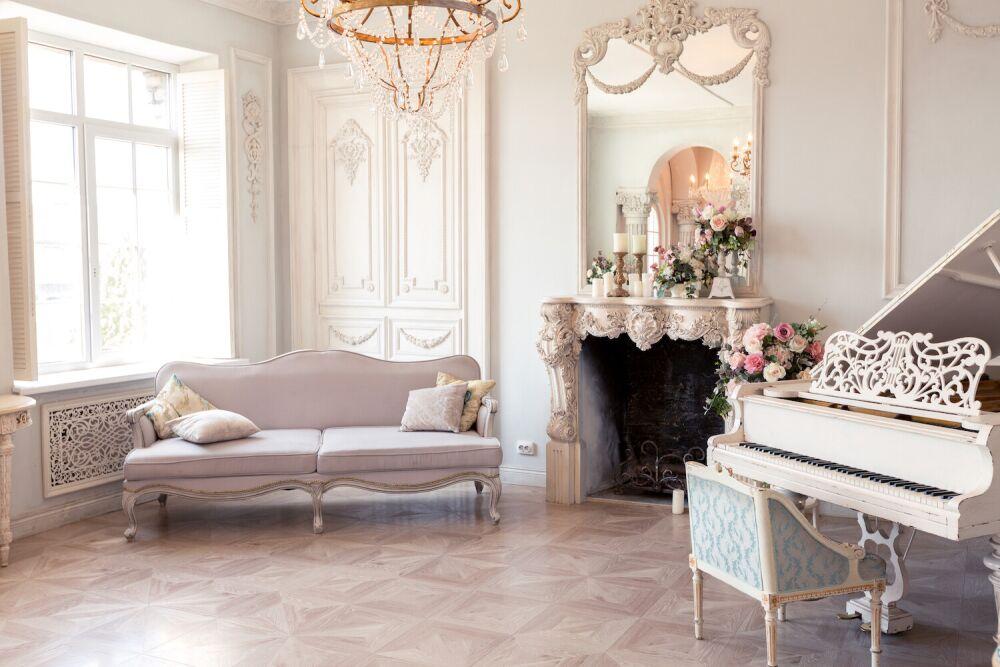 mieszkanie w stylu francuskim, meble w stylu francuskim