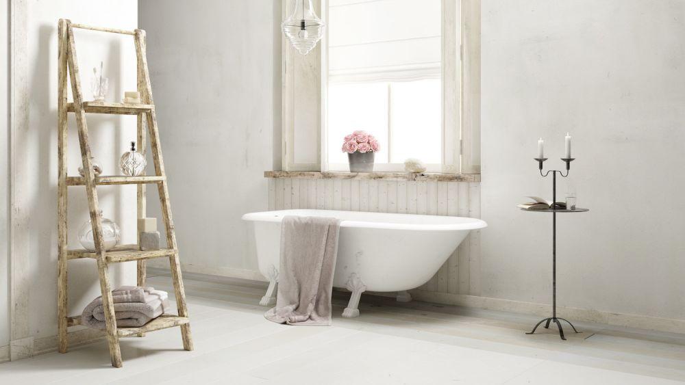 łazienka w starym stylu, shabby chic