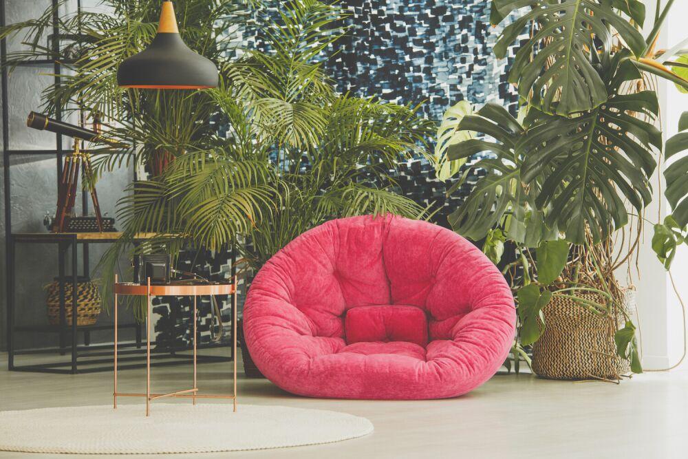 pokój pełen roślin, mieszkanie w stylu urban jungle, dodatki urban jungle