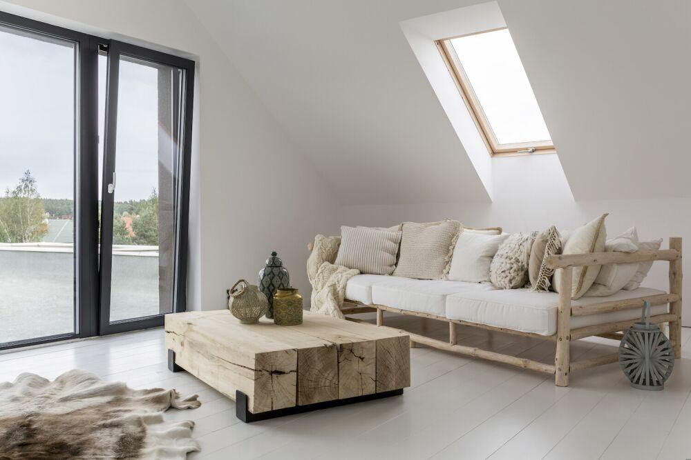 minimalizm, minimalistyczny salon