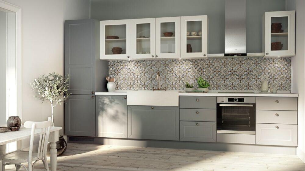 mozaika w kuchni, kuchnia retro, Bosch AGD