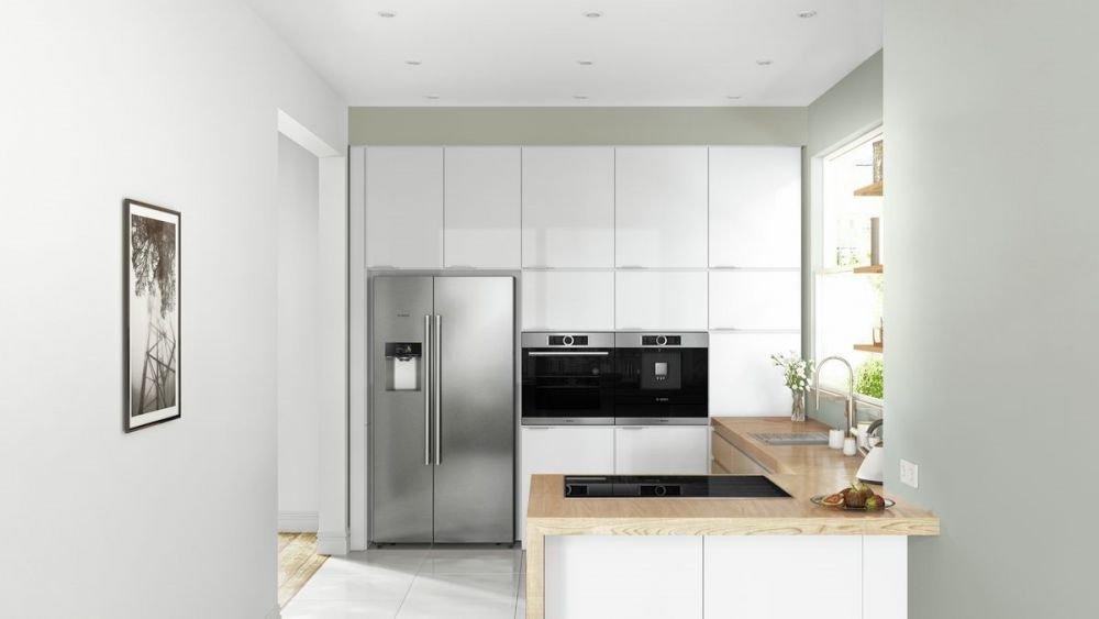 biała, mała kuchnia