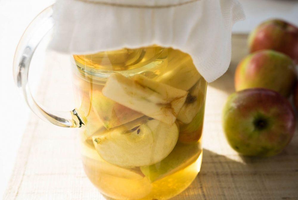 jabłka, fermentacja jabłek, ocet, domowy ocet