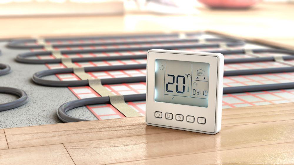 mierzenie temperatury, termometr, ogrzewanie podłogowe