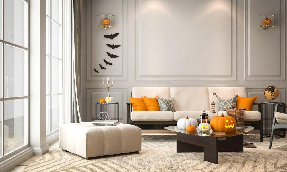 dekoracje salonu na halloween