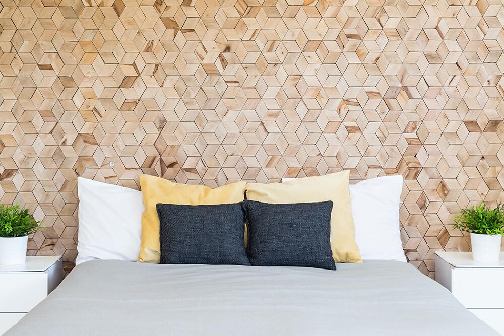 panele korkowe w sypialni