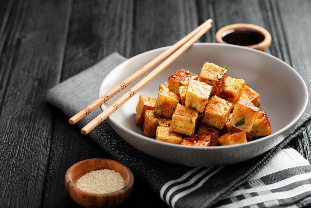smażone tofu