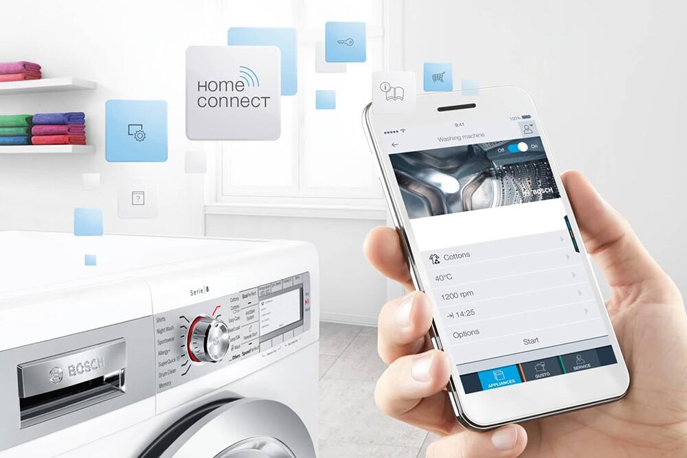 inteligentne sterowanie pralką i suszarką bosch home connect