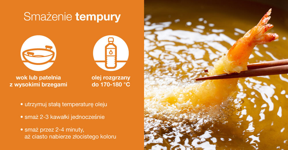 jak smażyć w tempurze, smażenie w tempurze, ile smażyć w tempurze