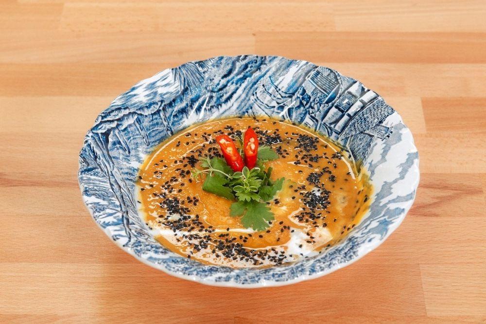 Zupa krem z pieczonej dyni z imbirem na sposób hinduski od Vienia  - zdjęcie 1
