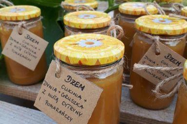 Dżem z cukinii,dyni,gruszki z nutą cytryny i pomarańczy