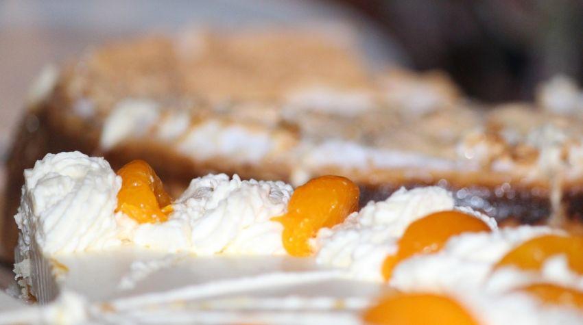 Tort twarożkowy z morelami