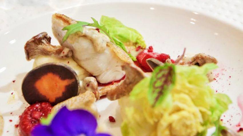 Filet z sandacza z ziemniaczano-chrzanowym purée
