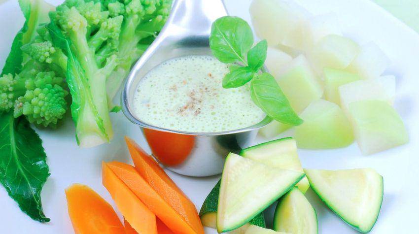 Wariacja warzywna z kremem cytrynowo-twarożkowym