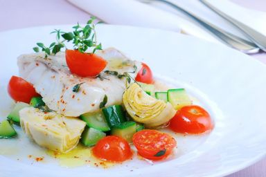 Karmazyn w warzywach śródziemnomorskim